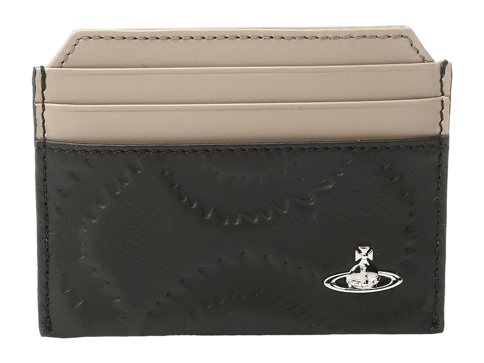 Vivienne Westwood - Squiggle Card Holder (Black) Credit card Wallet