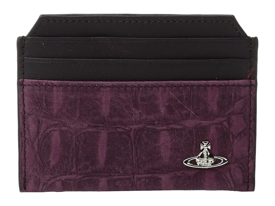 Vivienne Westwood - Amazon Small Card Holder (Purple) Credit card Wallet