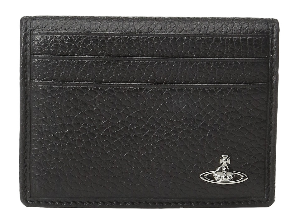Vivienne Westwood - Milano Folding Card Holder (Black) Credit card Wallet
