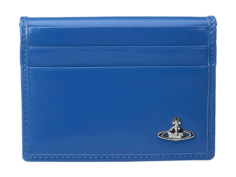Vivienne Westwood - Man Bicolored Folding Card Holder (Light Blue/Black) Credit card Wallet