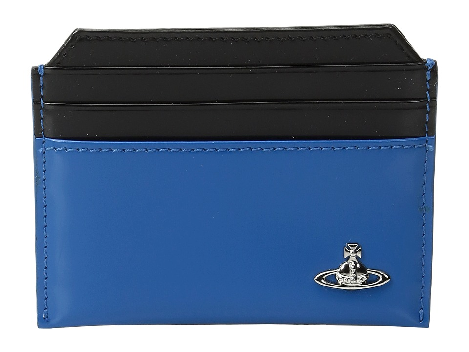 Vivienne Westwood - Man Bicolored Card Holder (Light Blue/Black) Credit card Wallet