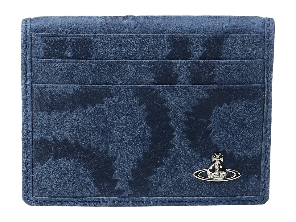 Vivienne Westwood - Belfast Folding Card Holder (Blue) Credit card Wallet