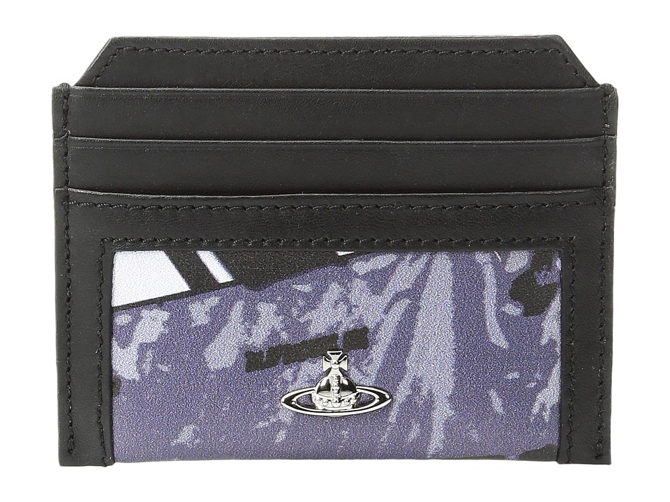 Vivienne Westwood - Protest Print Card Holder (Black) Credit card Wallet