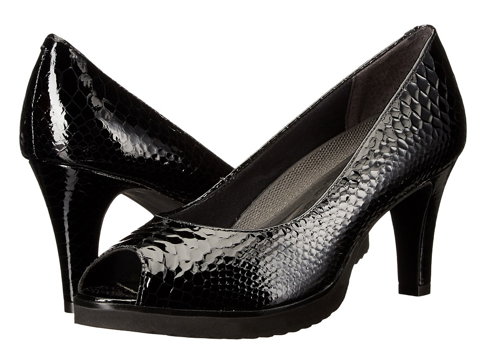 Walking Cradles - Tigress (Black Patent Belly Snake) Women's Shoes