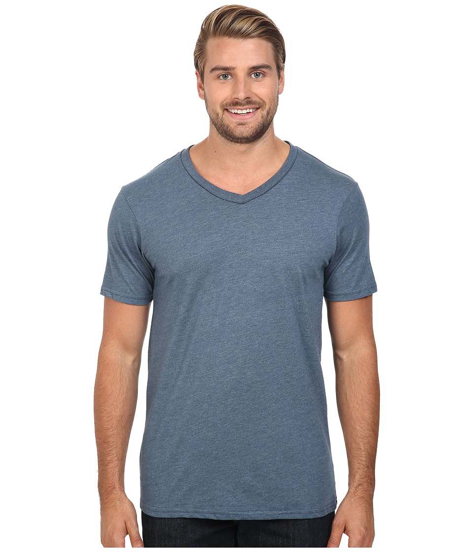 Volcom - Heather V-Neck Tee (Air Force Blue Heather) Men's T Shirt