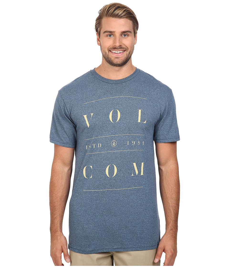 Volcom - Spaced Out Tee (Blue Fog Heather) Men's T Shirt