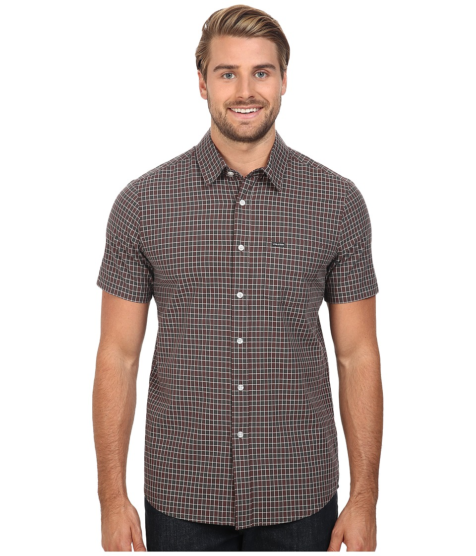 Volcom - Arthur Short Sleeve Woven (Plum) Men's Clothing
