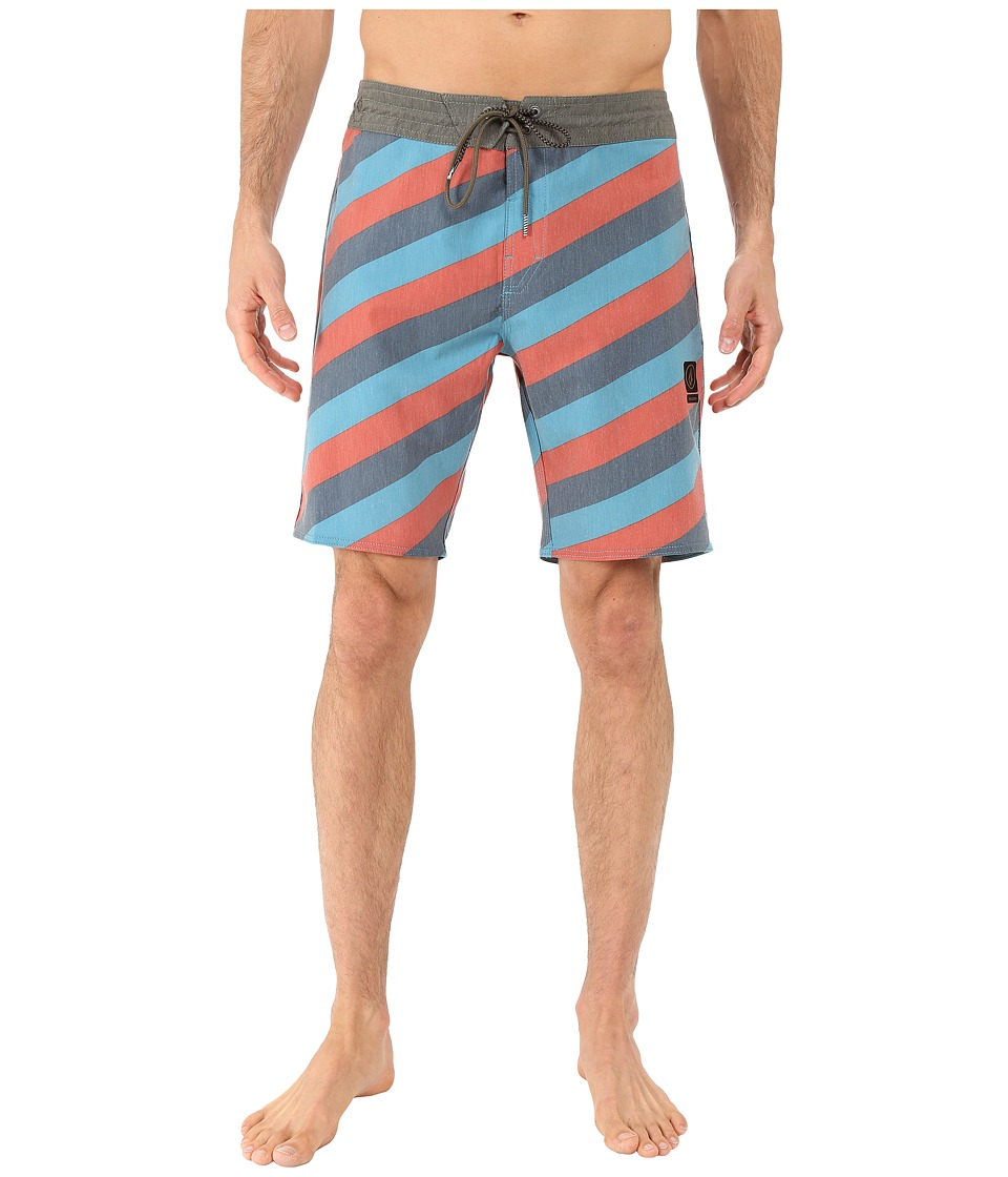 Volcom - Stripey Slinger 19 Boardshorts (Airforce Blue) Men's Swimwear