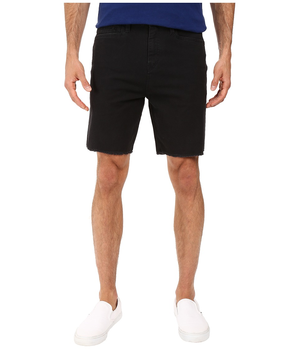 Volcom - Wolverton Raw Hem Shorts (Black) Men's Shorts