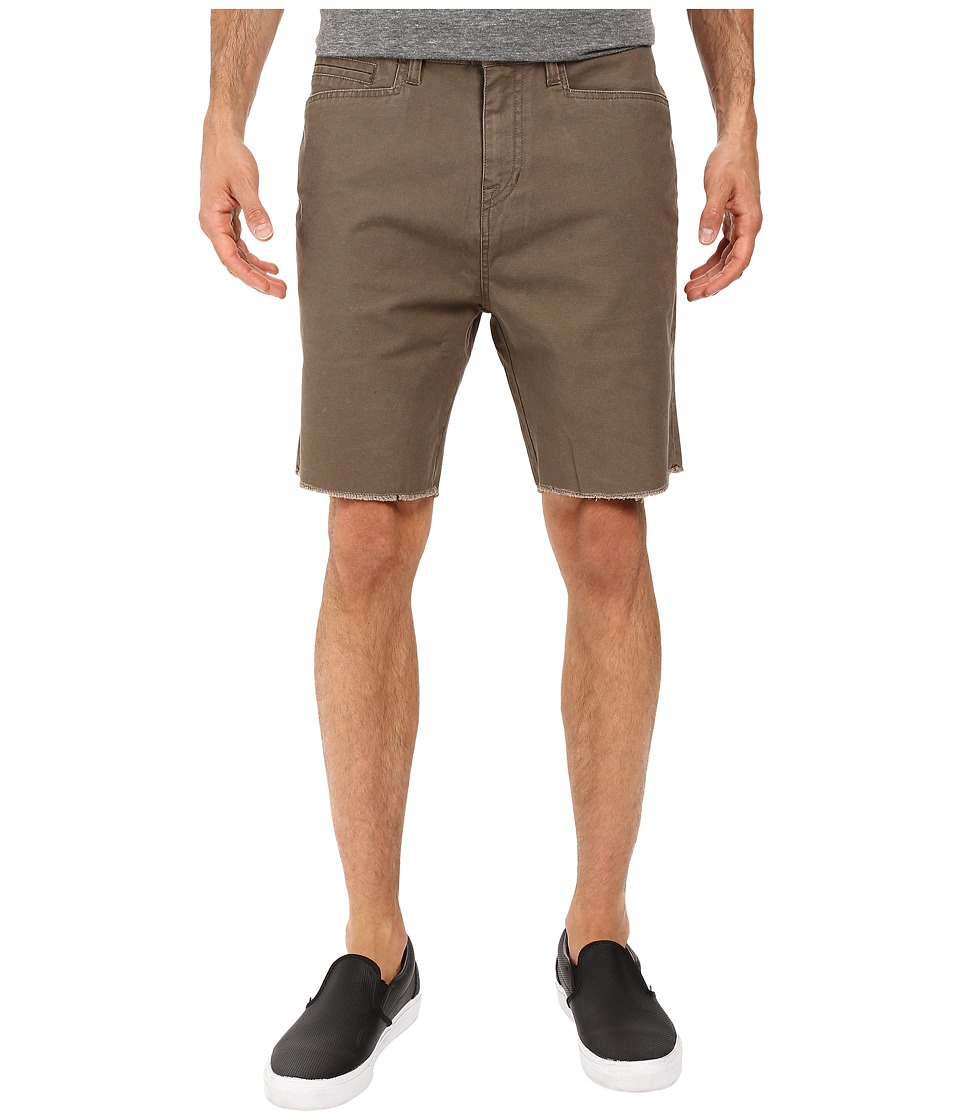 Volcom - Wolverton Raw Hem Shorts (Mushroom) Men's Shorts