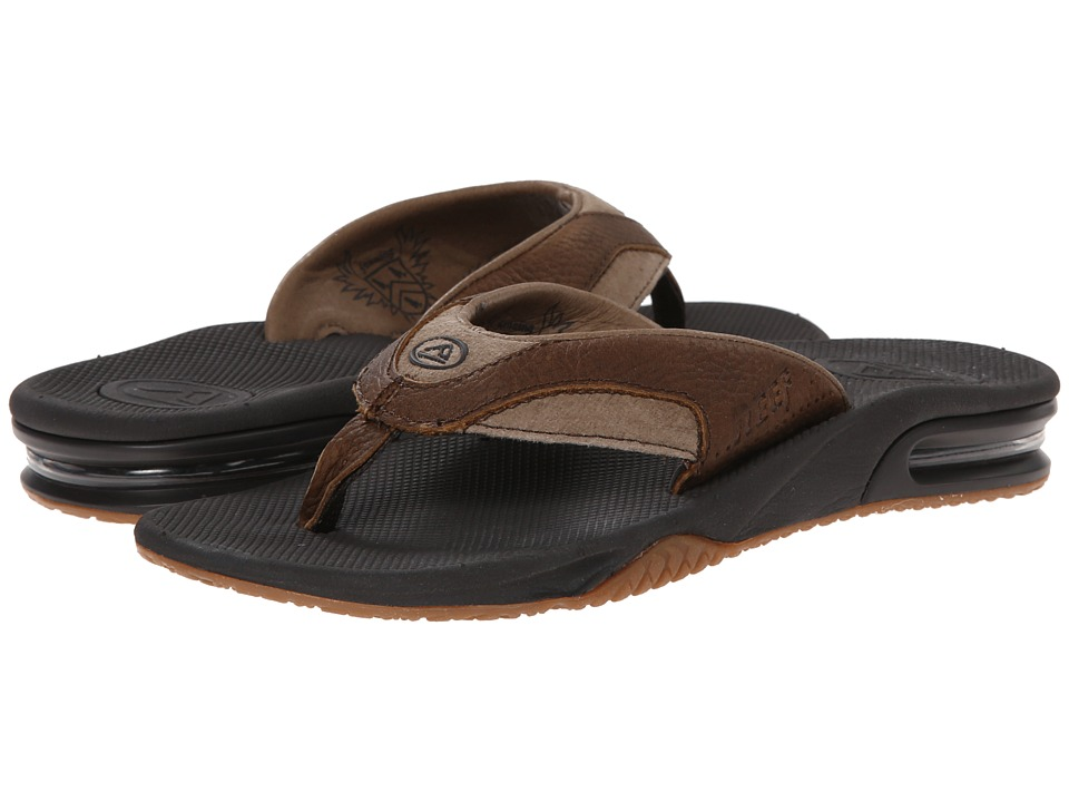 Reef Fanning Leather (Brown/Brown) Men