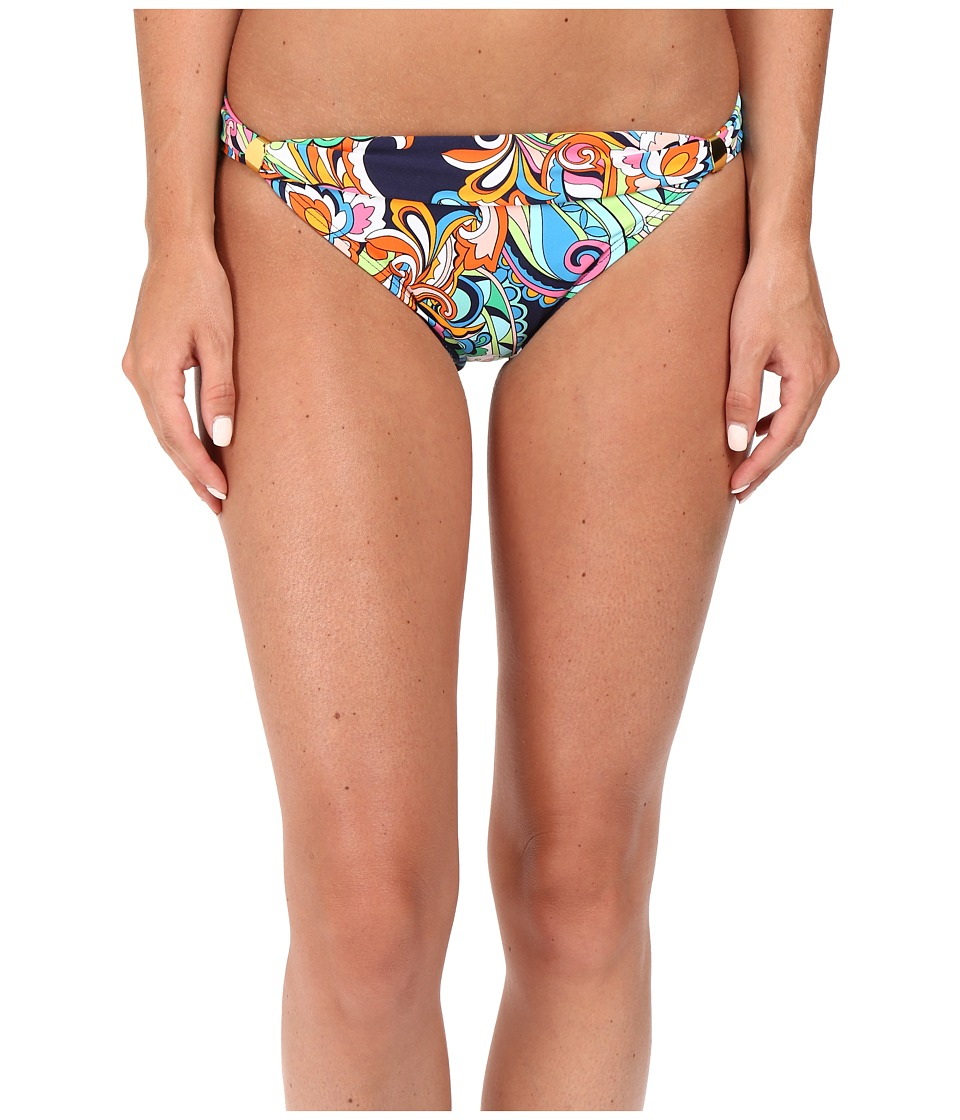 Tommy Bahama - Mare Paisley Shirred-Front Hipster Bikini Bottom (Mare Navy) Women's Swimwear
