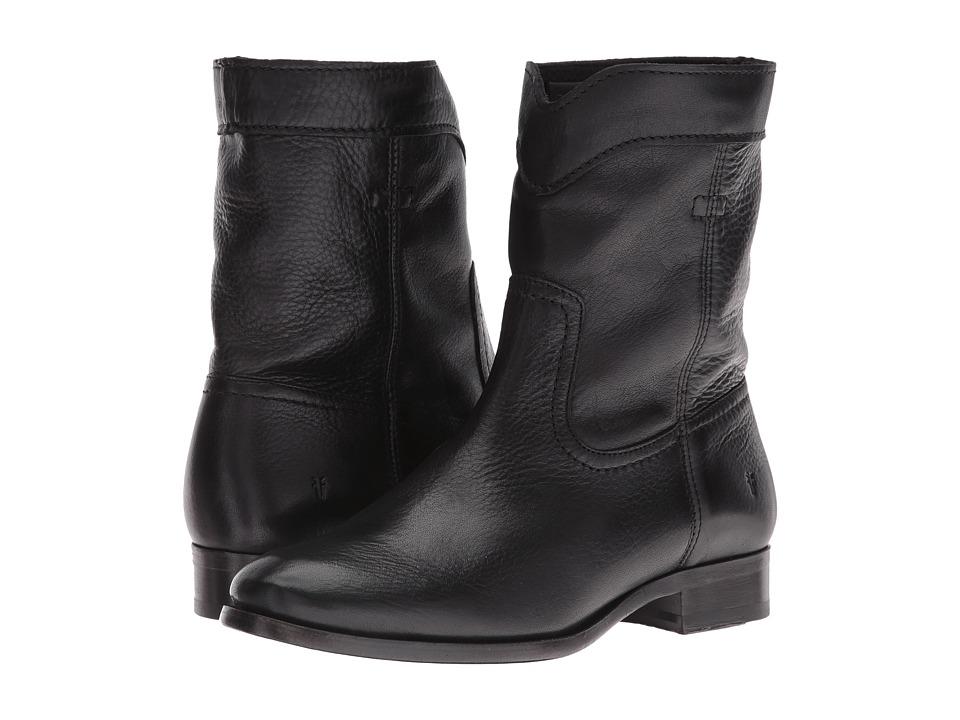 Frye - Cara Roper Short (Black Soft Pebbled Full Grain) Women's Pull-on Boots