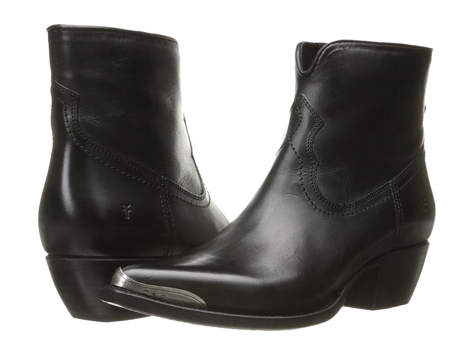 Frye Shane Tip Short Black Smooth Veg Calf Pull-on Boots