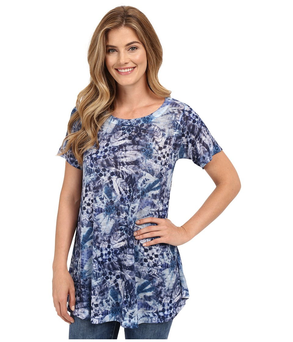 Nally & Millie - Blue Multi Tunic (Blue Multi) Women's Blouse