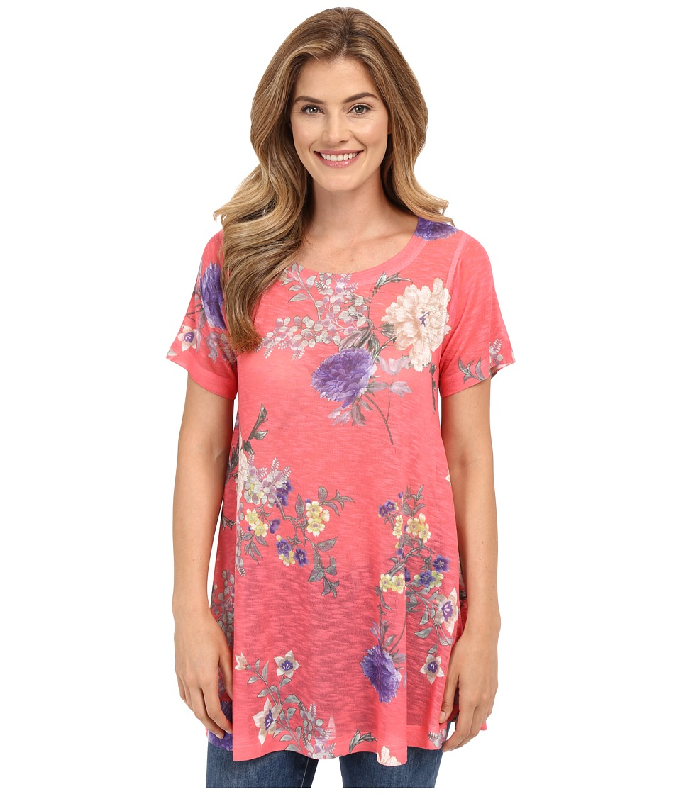 Nally & Millie - Pink Floral Tunic (Multi) Women's Blouse