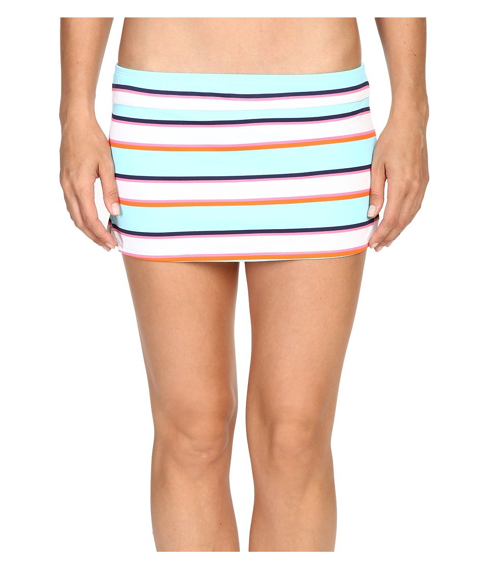 Tommy Bahama - TB Rugby Stripe Skirted Hipster Bikini Bottom (Multicolor) Women's Swimwear