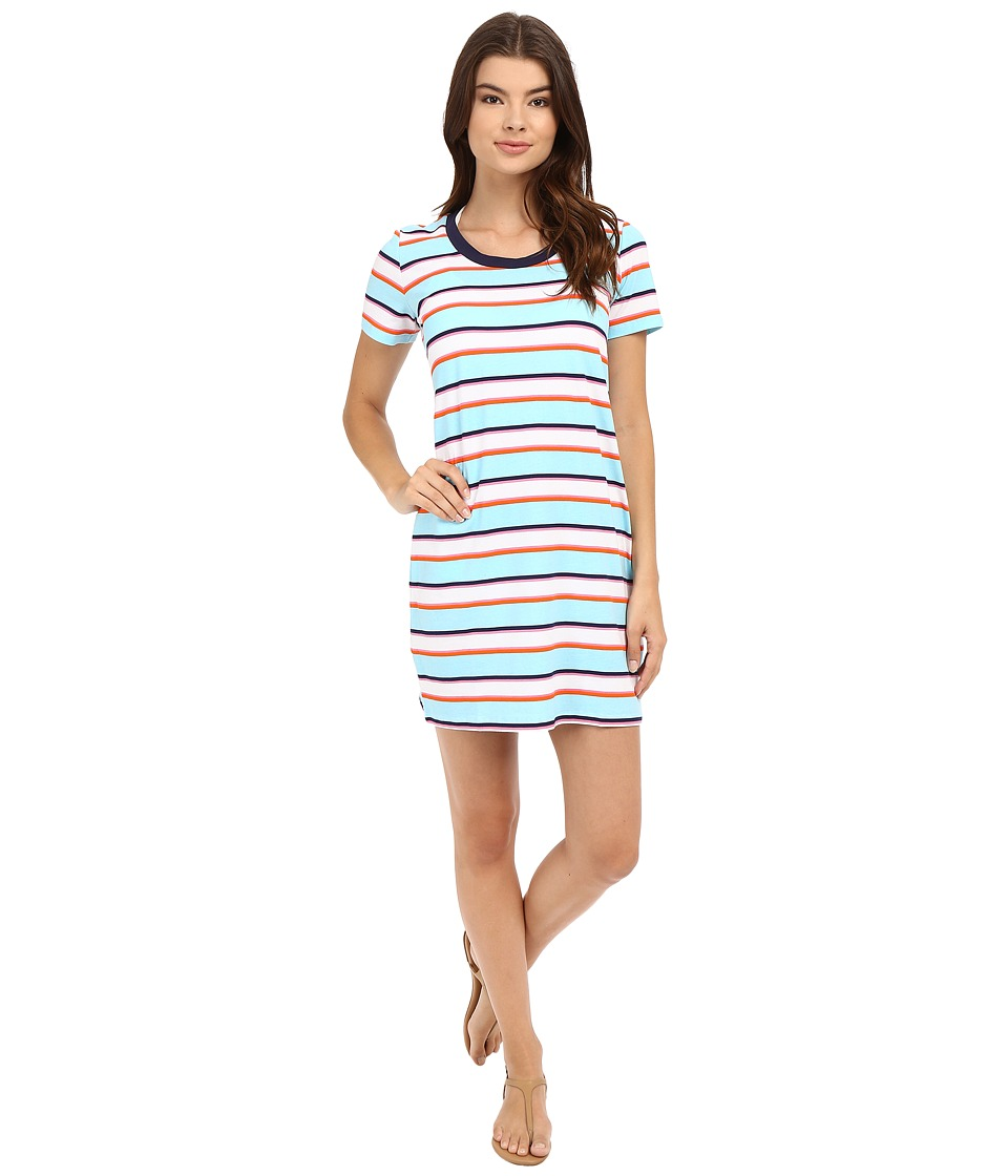 Tommy Bahama - TB Rugby Stripe T-Shirt Dress Cover-Up (Multicolor) Women's Swimwear