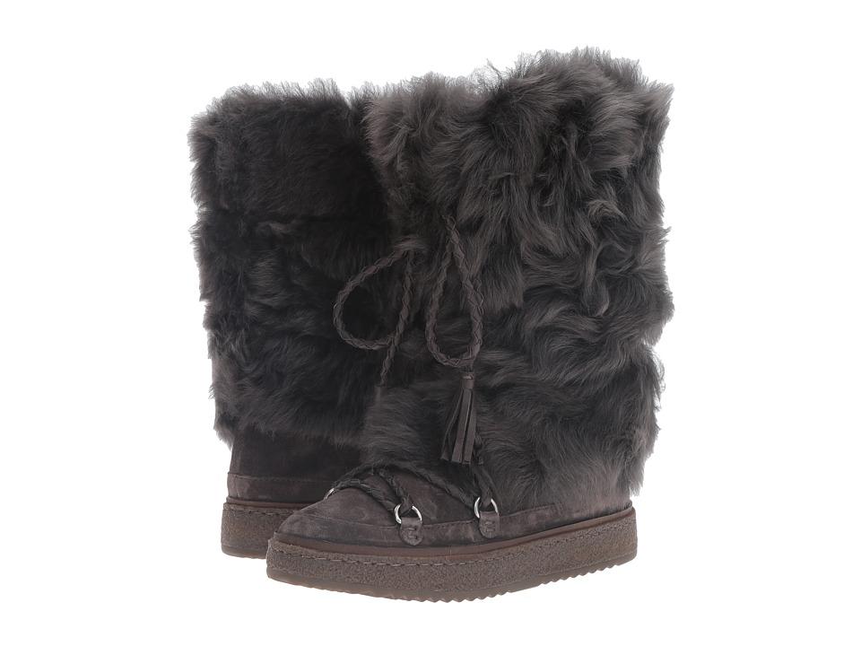 Frye - Gail Shearling Tall (Smoke Waterproof Oiled Suede/Shearling) Women's Pull-on Boots