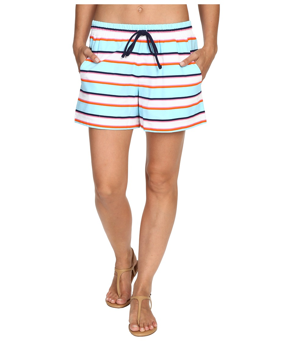 Tommy Bahama - TB Rugby Stripe Elastic-Waist Short Cover-Up (Multicolor) Women's Swimwear