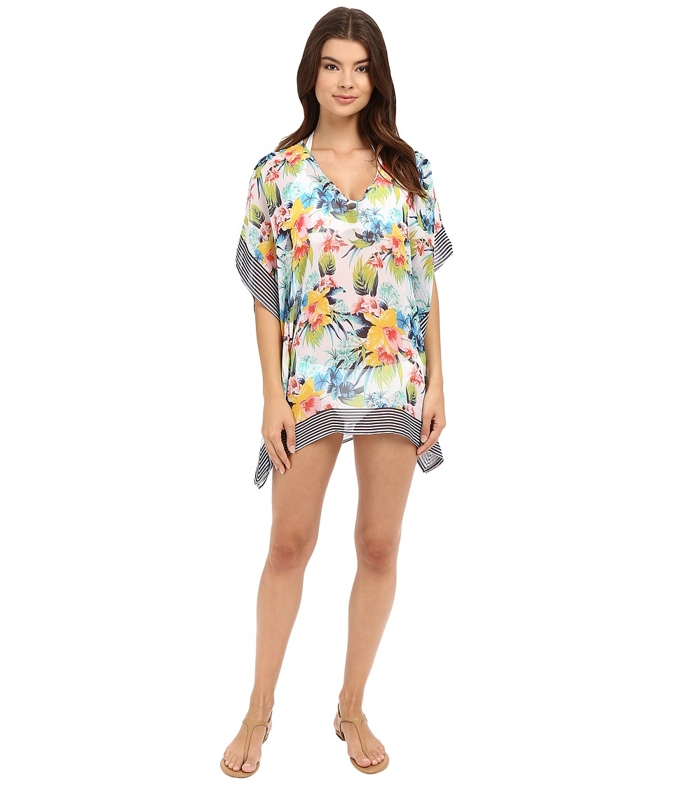 Tommy Bahama - Fleur de Lite Tunic Cover-Up (Multi) Women's Swimwear
