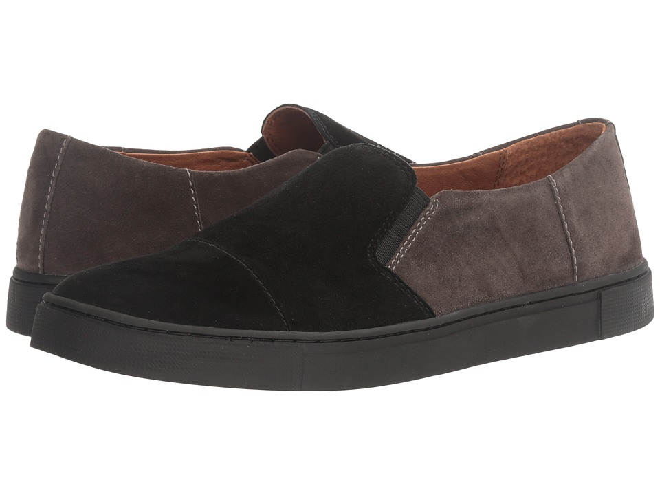 Frye Gemma Cap Slip (Black Multi Suede/Dark Outsole) Women