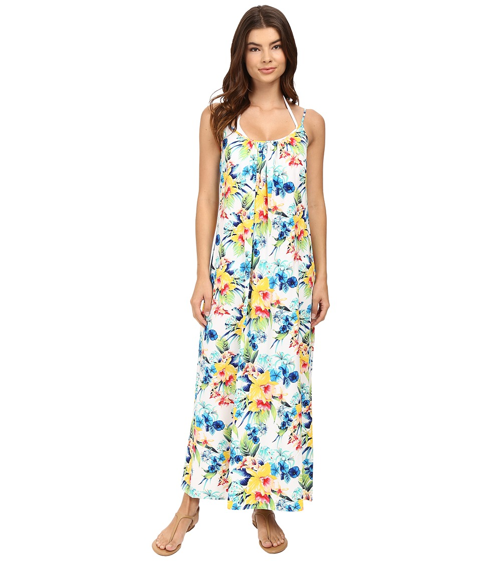 Tommy Bahama - Fleur de Lite Long Dress Cover-Up (Multicolor) Women's Swimwear
