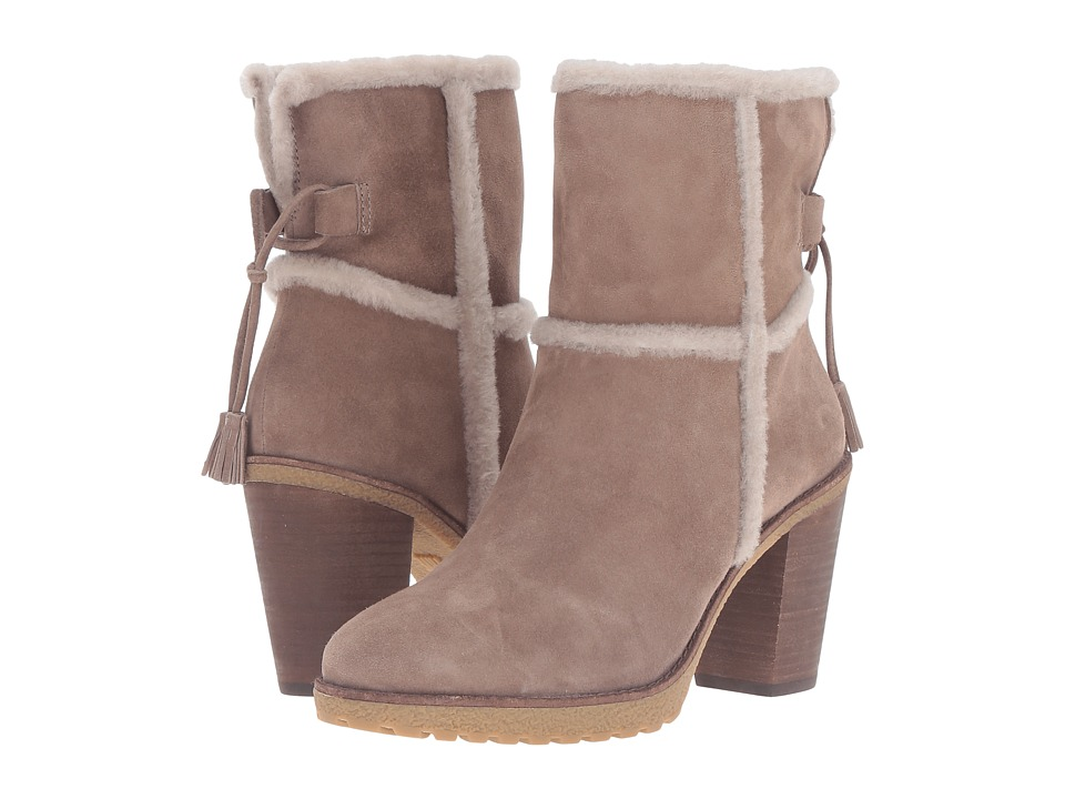 Frye - Jen Shearling Short (Taupe Water Resistant Suede/Shearling) Women's Dress Pull-on Boots