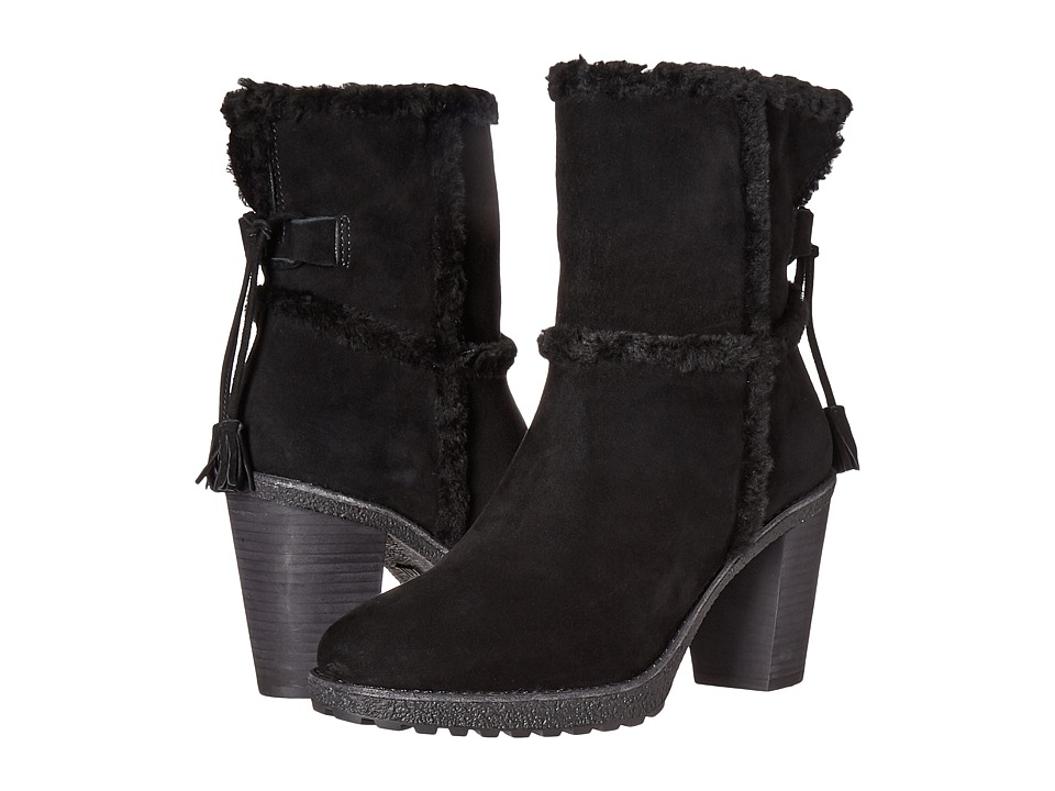 Frye - Jen Shearling Short (Black Water Resistant Suede/Shearling) Women's Dress Pull-on Boots