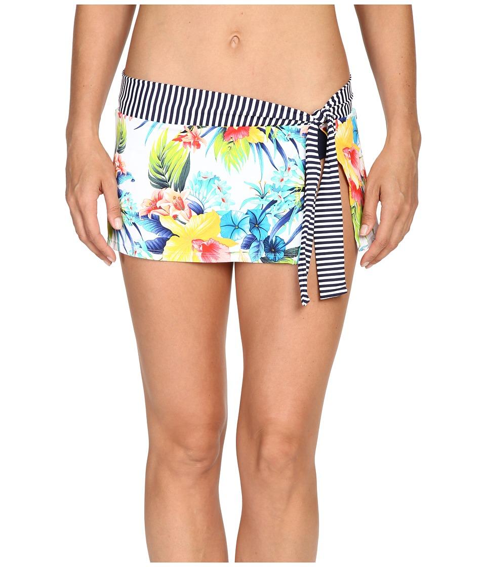 Tommy Bahama - Fleur de Lite Skirted Hipster Bikini Bottom (Multicolor) Women's Swimwear