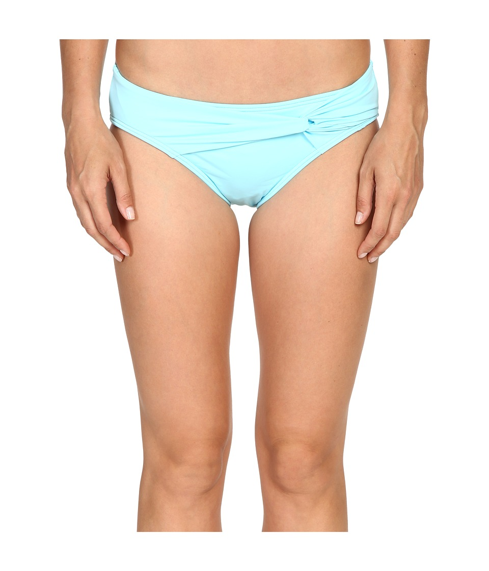 Tommy Bahama - Pearl Twist-Front High-Waist Bikini Bottom (Swimming Pool Blue) Women's Swimwear