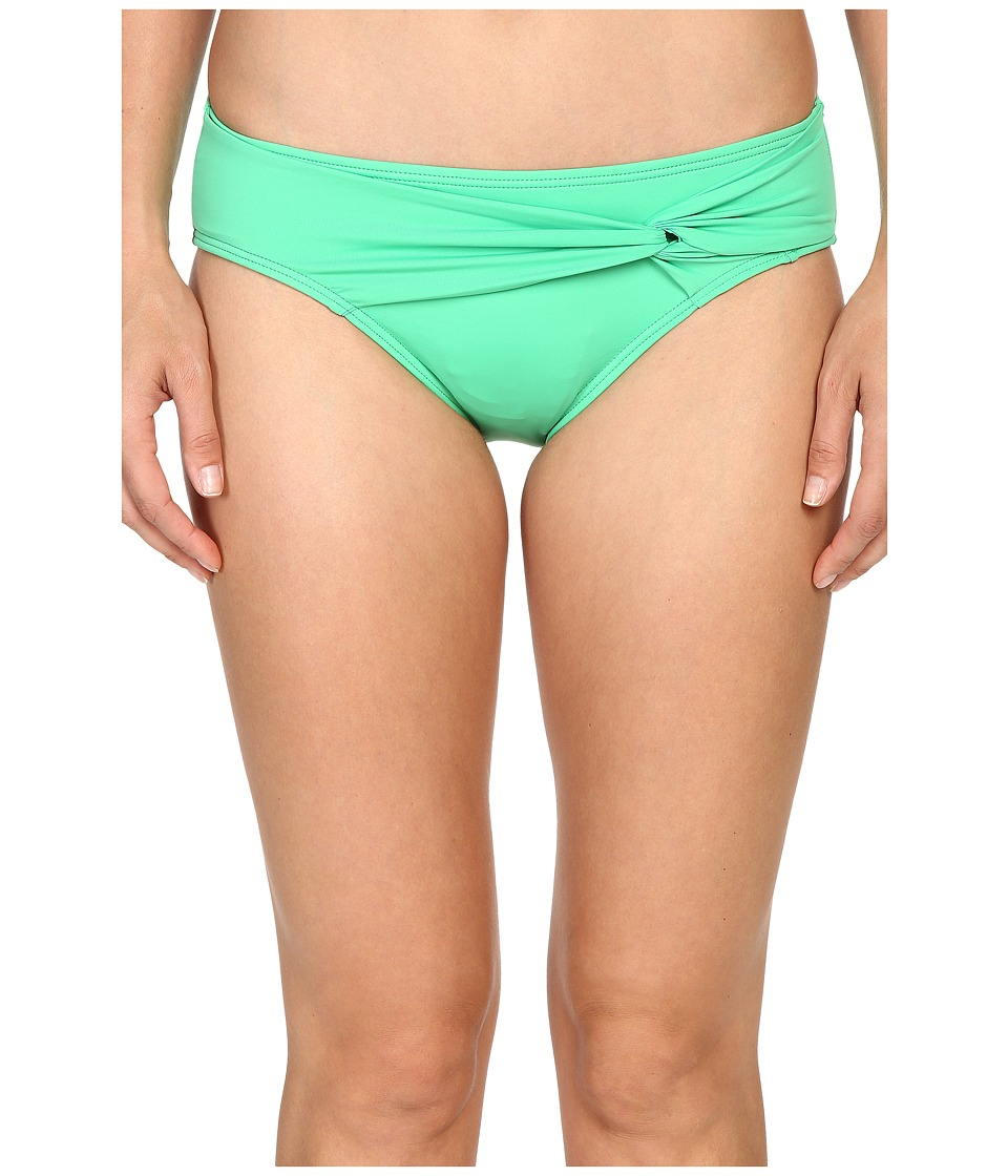 Tommy Bahama - Pearl Twist-Front High-Waist Bikini Bottom (Clearwater Green) Women's Swimwear