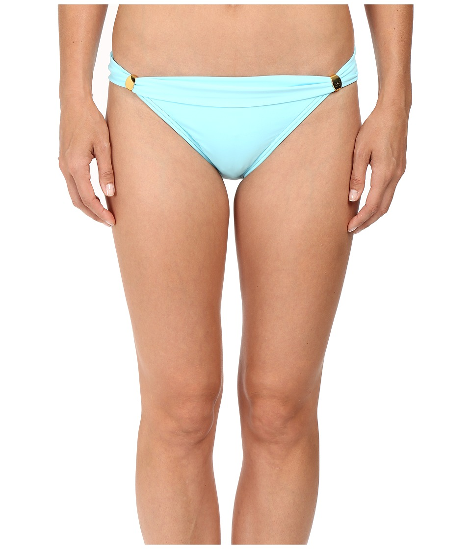 Tommy Bahama - Pearl Narrow Hipster Bottom with Hardware (Swimming Pool Blue) Women's Swimwear