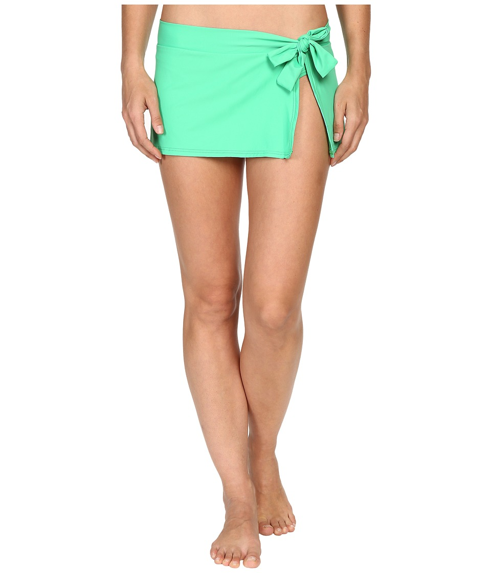 Tommy Bahama - Pearl Skirted Hipster Bikini Bottom (Clearwater Green) Women's Swimwear