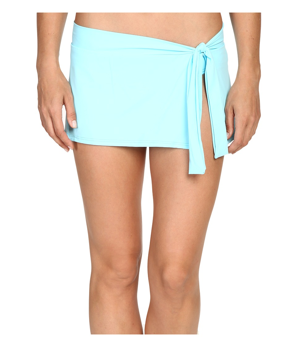Tommy Bahama - Pearl Skirted Hipster Bikini Bottom (Swimming Pool Blue) Women's Swimwear