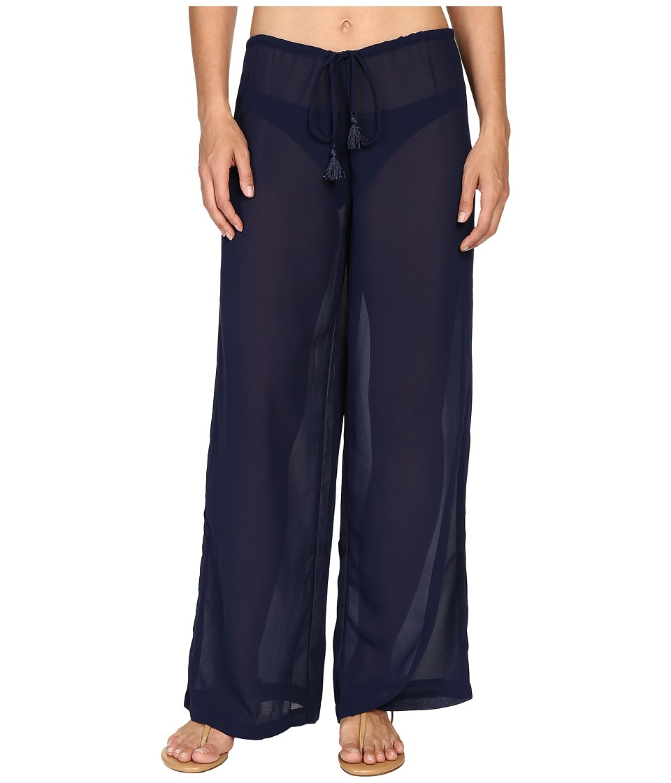 Tommy Bahama - Chiffon Drawstring Pants Cover-Up (Mare Navy) Women's Swimwear