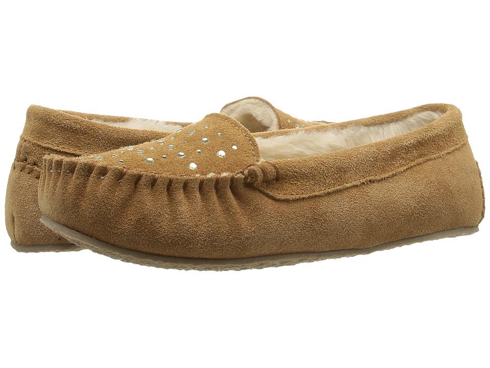 Minnetonka - Rhinestone Slipper (Cinnamon Suede) Women's Slippers