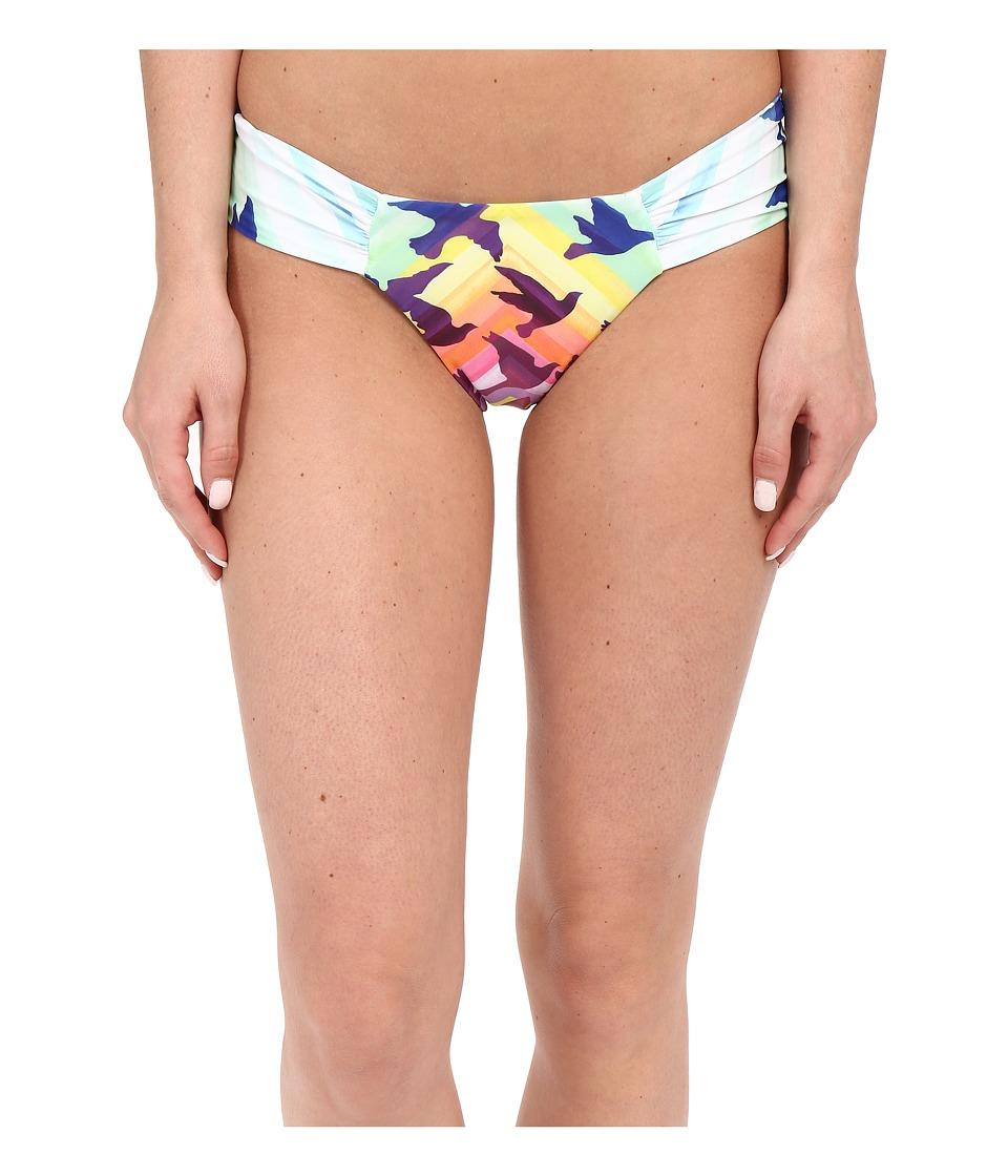 Mara Hoffman Ruched Side Bottom Prismatic Womens Swimwear