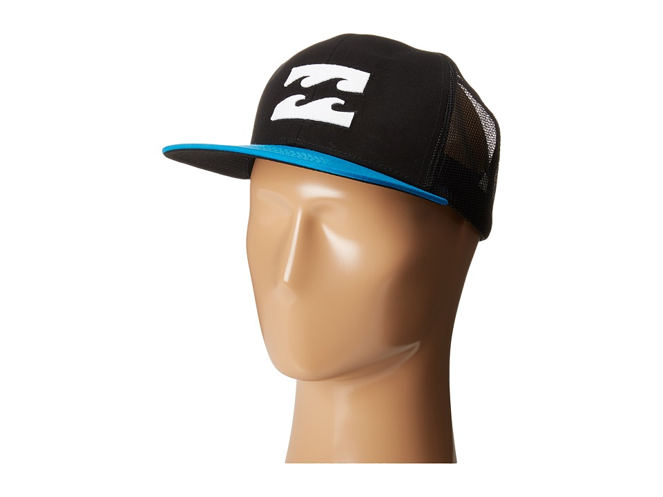 Billabong - All Day Trucker Hat (Black/Cyan) Caps