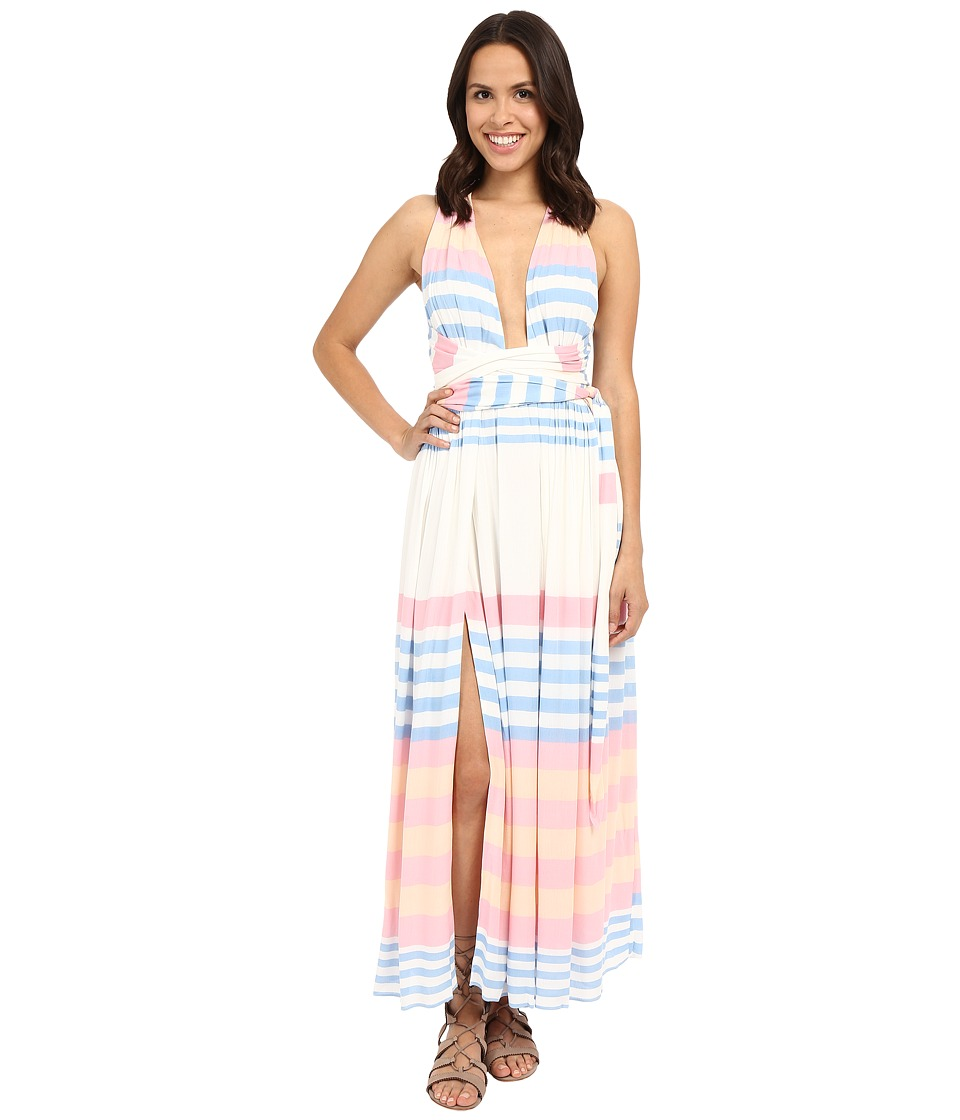 Mara Hoffman - Crinkle Crepe Maxi Dress (Field Stripe) Women's Swimwear