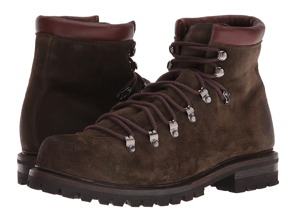 Frye - Wyoming Hiker (Olive Waxed Suede) Men's Lace-up Boots