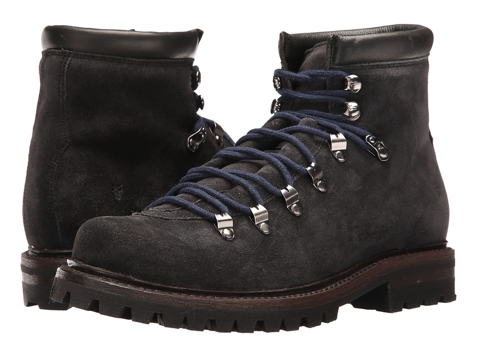 Frye - Wyoming Hiker (Slate Waxed Suede) Men's Lace-up Boots
