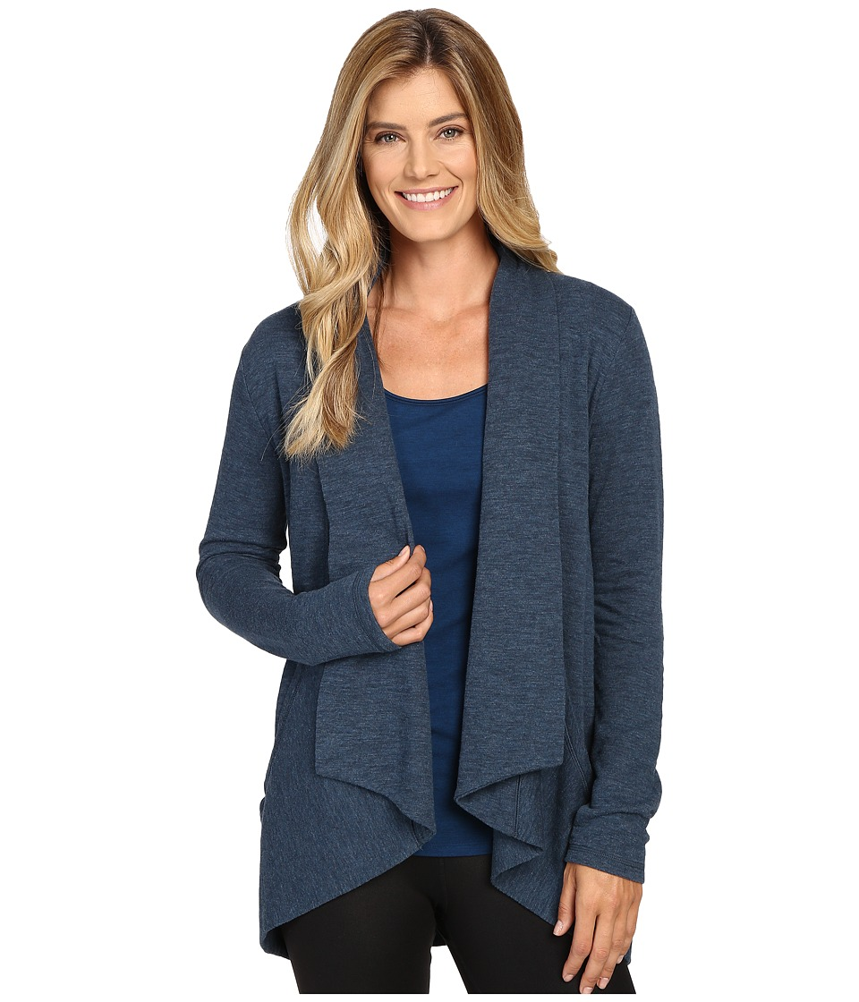 Lucy - Tranquility Slub Wrap (Poseidon Heather) Women's Sweater