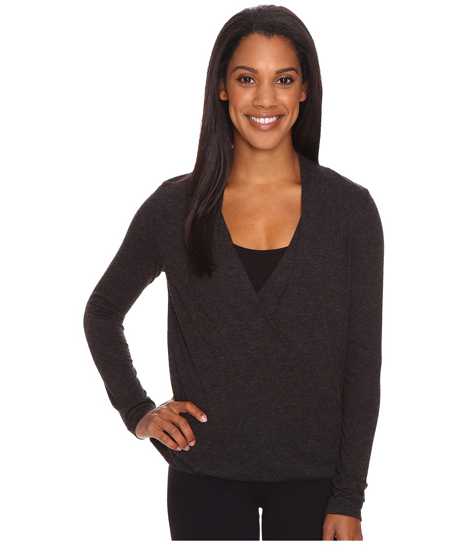 Lucy - Mat To Meeting Long Sleeve (Lucy Black Heather) Women's Blouse