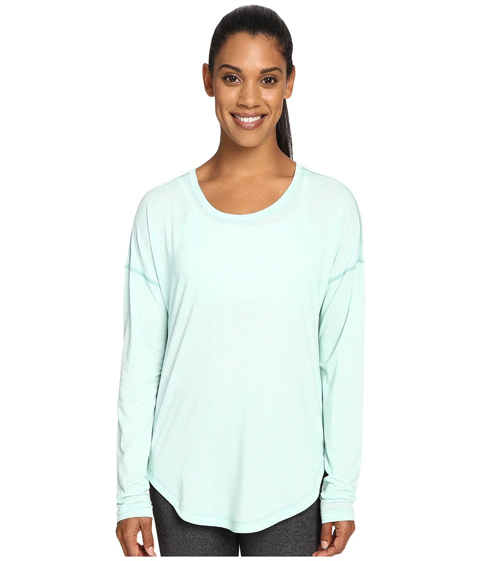 Lucy - Final Rep Long Sleeve Top (Morning Mist Heather) Women's Long Sleeve Pullover