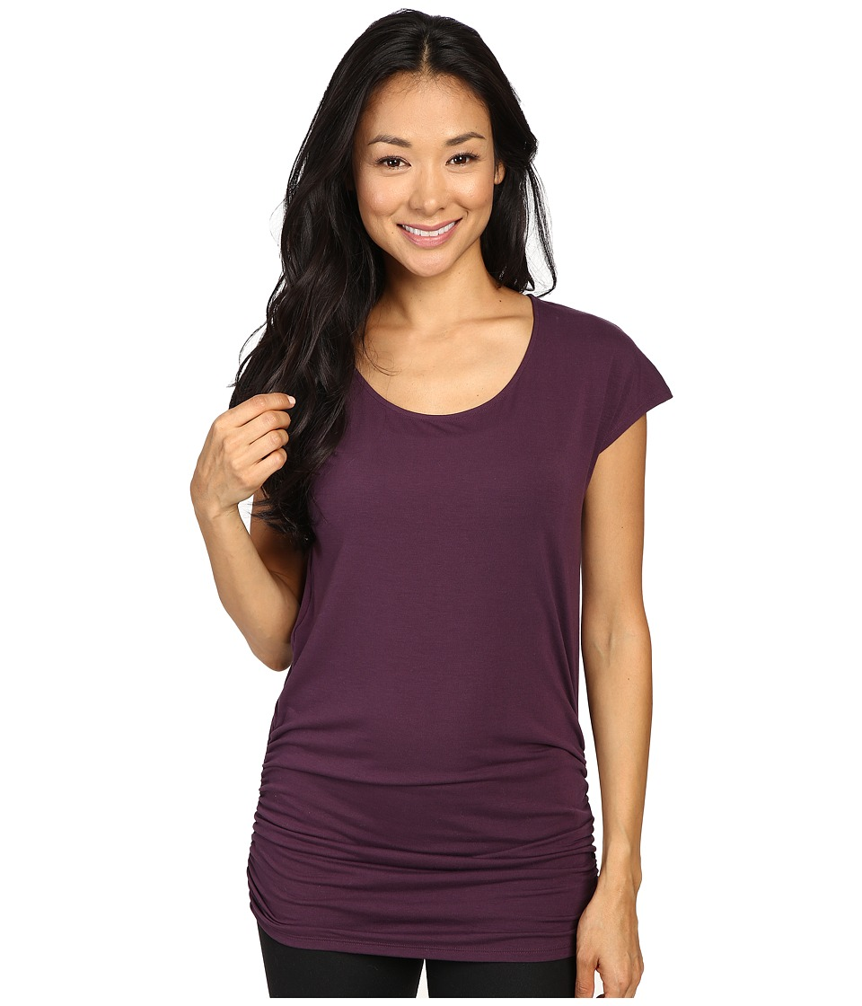 Lucy - Yoga Girl Tunic Top (Blackberry) Women's Workout