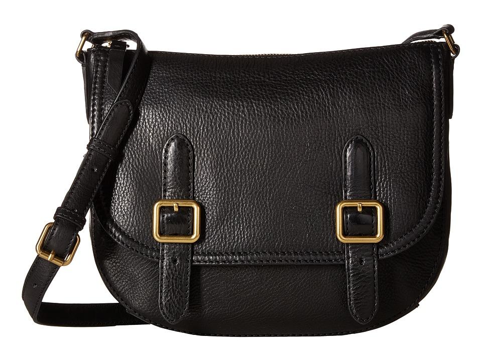Frye - Claude Crossbody (Black Tumbled Full Grain) Handbags