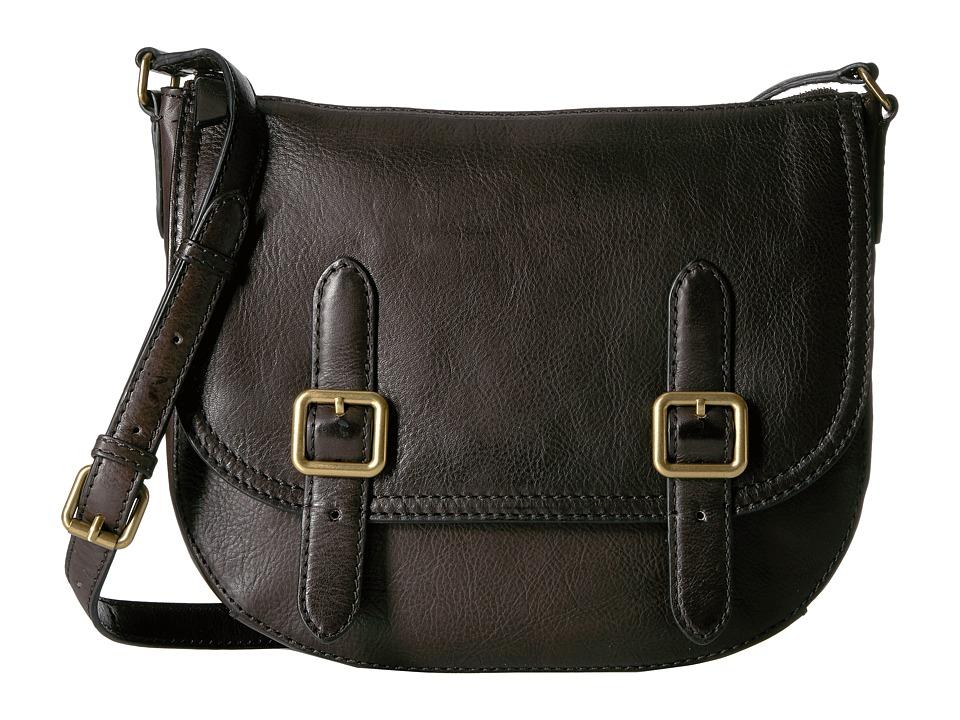 Frye - Claude Crossbody (Charcoal Tumbled Full Grain) Handbags