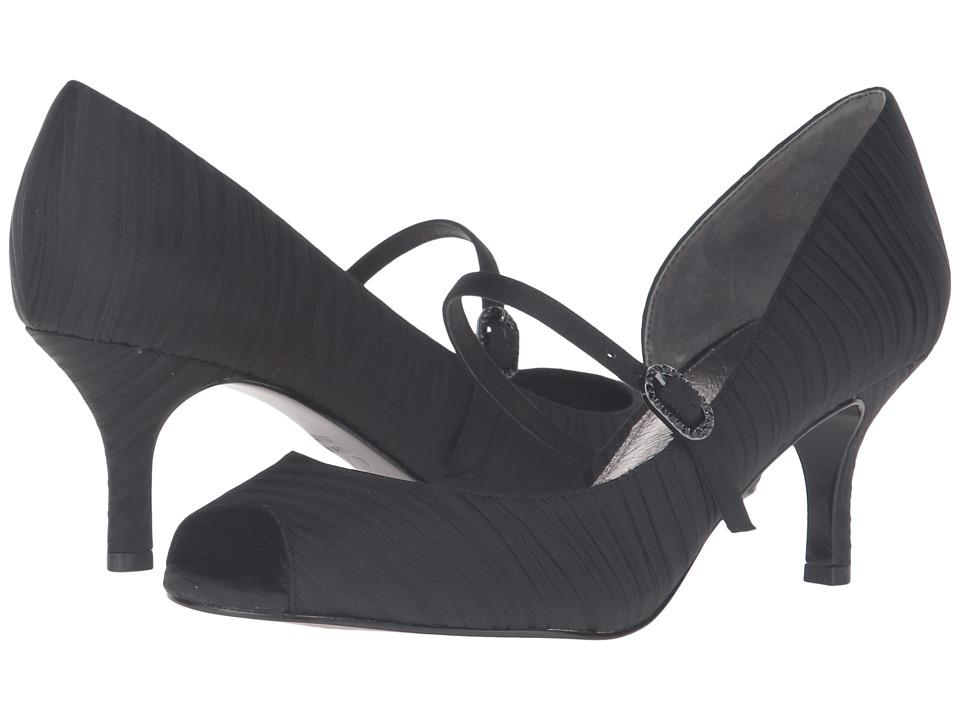 Adrianna Papell - Janet (Black Strata Satin) High Heels