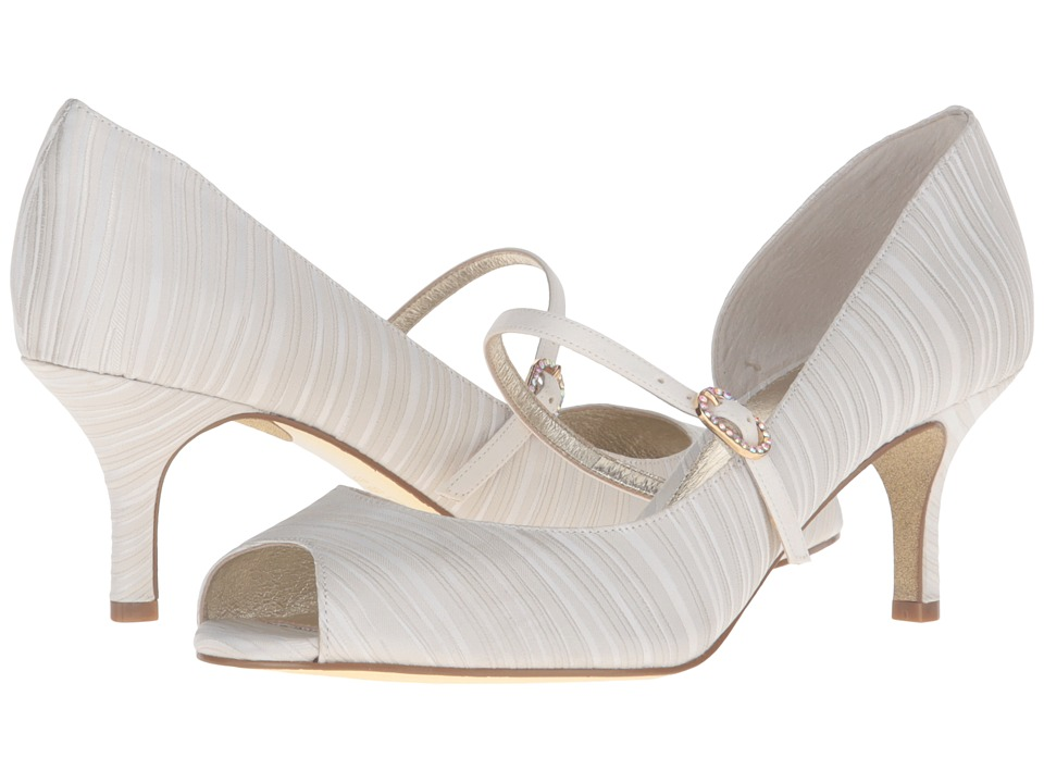 Adrianna Papell Janet (Oyster Strata Satin) High Heels